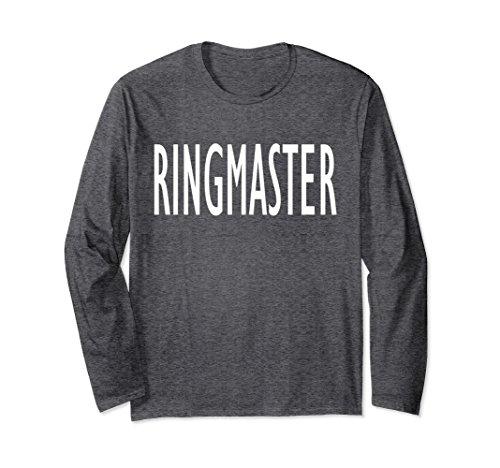 Unisex Funny Busy Parent Mom Dad Ringmaster Costume T-Shirt XL: Dark Heather