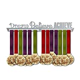 Dream Believe Achieve Medal Hanger Display | Motivational Medal Hanger | Stainless Steel Medal Display | by VictoryHangers - The Best Gift for Champions !