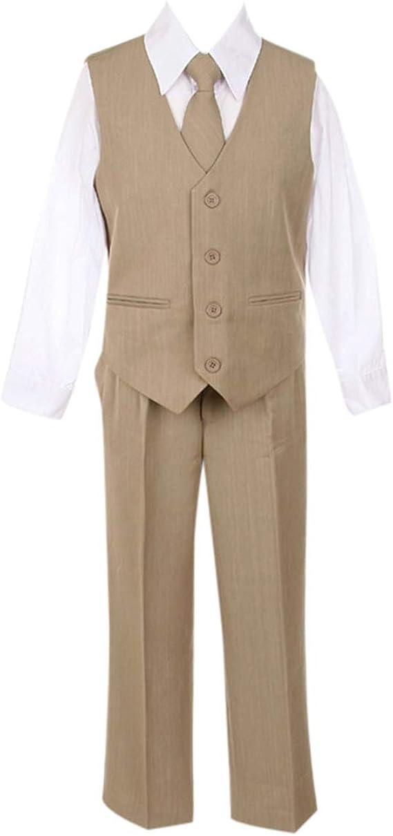 HBDesign Boys3 Piece Double Breasted Jacket Pant Vest Slim Fit Party Suit