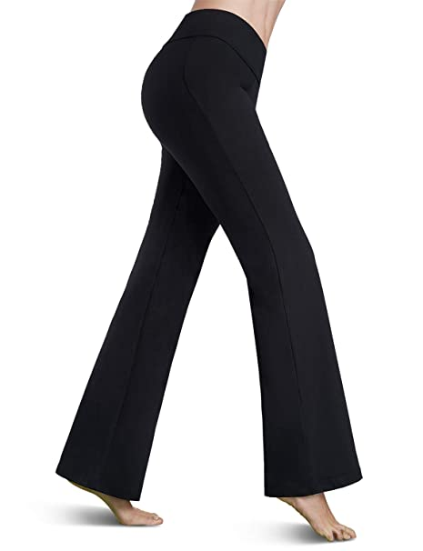 outlet sale where to buy top design Bamans Bootcut Yoga Pants for Women, Tummy Control, Dress Workout Running  Athletic Bootleg Yoga Pants