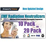 Cell Phone EMF Protection Radiation Neutralizers + Free EMF Neutralizer Button - Slim Design - Developed by Doctor - Proudly Made in The USA - 10 or 20 Pack