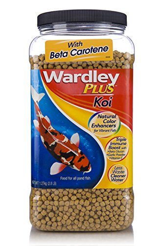 HARTZ Wardley Plus Koi Color Enhancing Pond Fish Food Pellets - 2.8lb by HARTZ