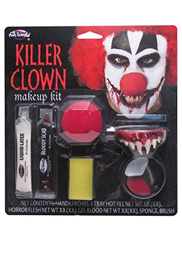 [Halloween Killer Clown Make-Up Kit] (Horror Makeup Value Kit)