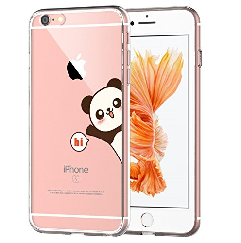 Back Animal - AIsoar iPhone 6 Plus Case, iPhone 6s Plus Case, Ultra Thin and Slim Clear Soft TPU Bumper Back Anti-Scratch Protective Cute animals Cover for Apple iPhone 6 Plus / 6s Plus 5.5