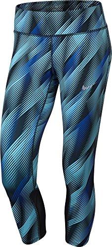 Nike Women's Power Epic Run Crop , (Still Blue/Black)X-Large