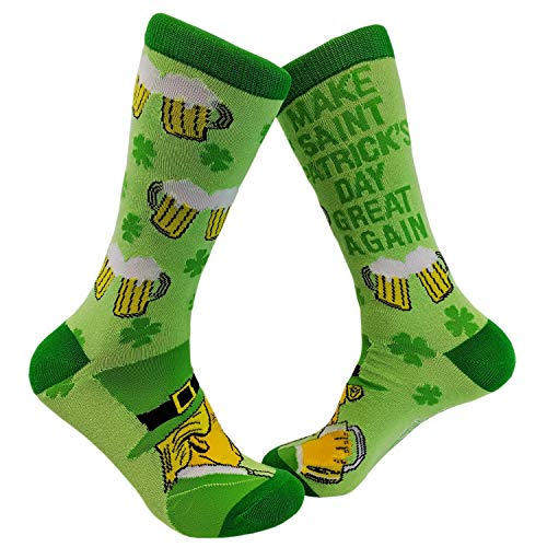 Make St. Patty's Day Great Again Socks Funny Trump St. Patricks Day Parade Footwear
