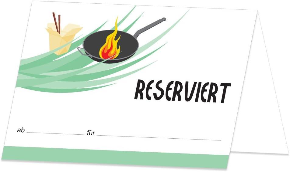 50 unidades PRICARO Tarjetas de mesa reservadas asi/áticas