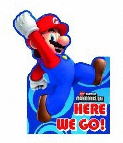 6 Super Mario Bros Wii Birthday Party Invite Invitations Cards Plus Envelopes . -