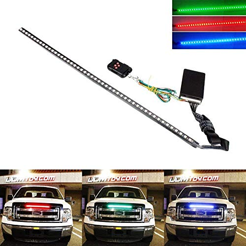 (iJDMTOY 20 inches 48-LED RGB LED Knight Rider Scanner Lighting Bar For Car Interior or Exterior Decoration)