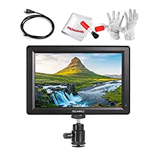 Feelworld F7 7 Inch IPS Full HD 1920x1200 On Camera Field Monitor Supports 4K HDMI Input/Output 1200:1 High Contrast 450cd/m2 High Brightness 160 Wide Viewing Angle for Sony A6300 A6500 DSLR Cameras