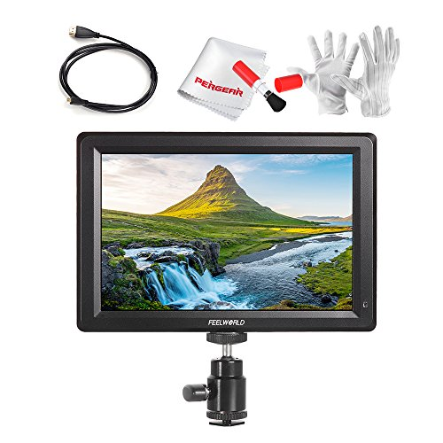 Feelworld F7 7 Inch IPS Full HD 1920x1200 On Camera Field Monitor Supports 4K HDMI Input/Output 1200:1 High Contrast 450cd/m2 High Brightness 160 Wide Viewing Angle for Sony A6300 A6500 DSLR Cameras (Crane Parts Pro)