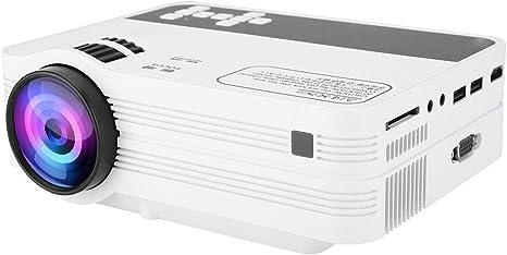 Amazon.com: ASHATA Mini Proyector, 4500 lúmenes Portátil LCD ...