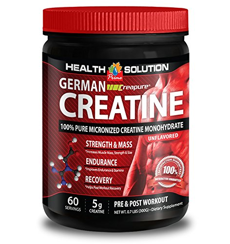 Creatine monohydrate bulk - CREAPURE MONOHYDRATE GERMAN CREATINE 300 GRAMS 60 SERVINGS - increase strength (1 Bottle)