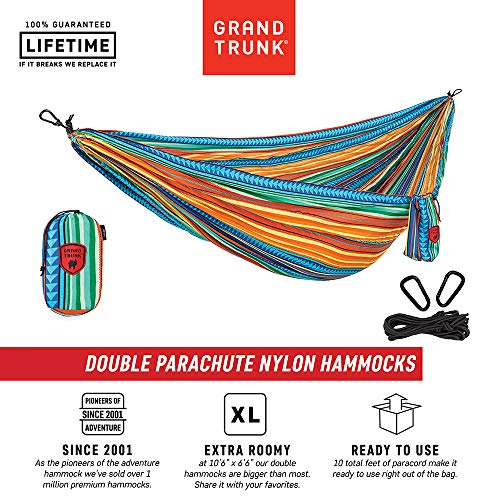 Grand Trunk Print Hammock – Camping Double, Tree Hanging Kit Included, Durable Nylon, Portable, Indoor Outdoor, Travel, Backpacking, Survival