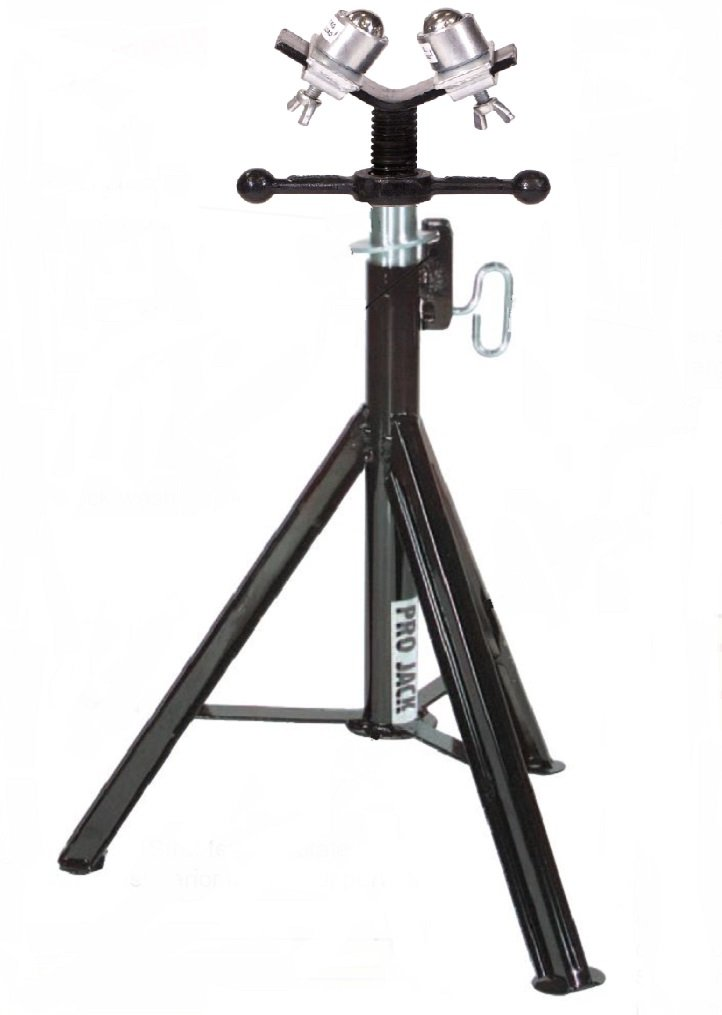 Sumner 780476 ST-876 Hi Pro Jack with Ball Transfer Head, 28'' to 49'' Adjustable Height, 2500 lb. Capacity by Sumner Manufacturing