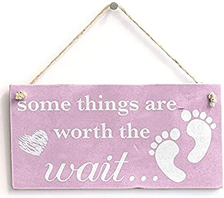 20cbe6d9adc9 Amazon.com  123RoyWarner Some Things Are Worth The Wait. Baby Girl ...