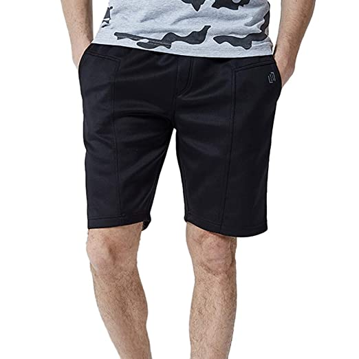 ff88ba55d6257 Amazon.com: Sinzelimin Fashion Men's Casual Slim Fit Plain Color Stretchy  Sports Shorts Home Pants: Clothing