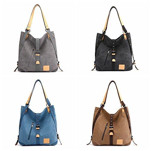 Backpacks Bags Daypacks Shoulder Canvas Brown Hobos Bag Totes Defeng Handbag Rucksack 0AqPTc