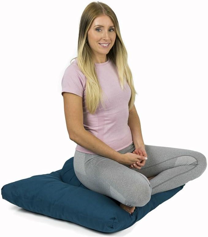 Reehut Coussin de M/éditation Coussin Yoga Zafu Rond Coton Sarrasin Ecologique pour M/éditation Mandala 33 11cm