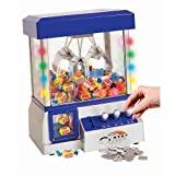 real mini claw machine - Home Claw Toy Grabber Machine with Bright LED Lights and Playing Music - Insert Coins for Real Arcade Play & Sounds