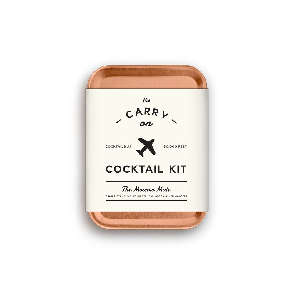 W&P MAS-CARRYKIT-MM Carry on Cocktail Kit, Moscow Mule, Travel Kit for Drinks on the Go, Craft Cocktails, TSA Approved