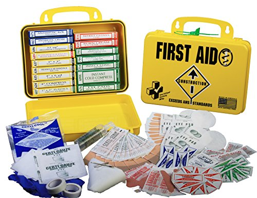 Certified Safety K612-150 18PY ANSI Construction First Aid Kit in Poly Yellow