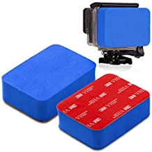 Camera Block Floater, Buoyant Sticker Floater Block for GoPro Hero 1 / 2 / 3 / 3 Plus / 4 (Black, Silver and Session), Hero5 (Blue)