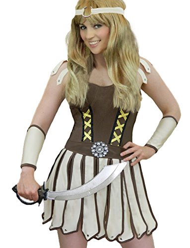 Spartan Costumes Female (Yummy Bee Womens Warrior Gladiator Roman Princess Costume Size 12 - 14)