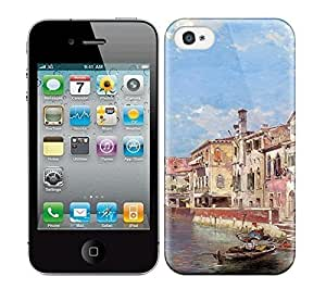 Best Power(Tm) HD Colorful Painted Watercolor River And Beautiful City Hard Phone Case For Iphone 4/4S