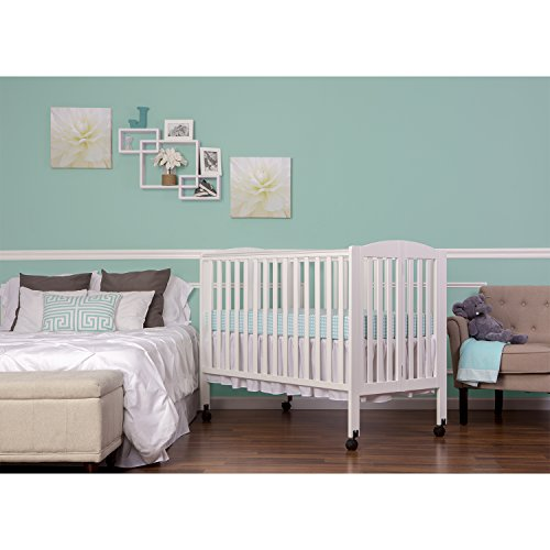 Dream On Me Full Size 2 in 1 Folding Stationary Side Crib, White by Dream On Me (Image #3)