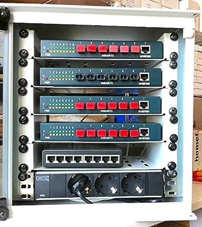 oms126s de 220//óptico 8/Port Switch