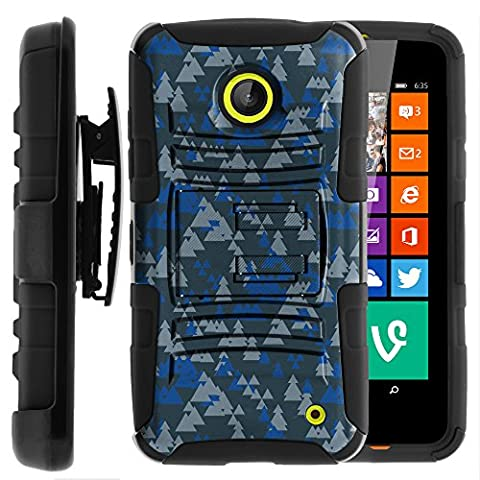 Nokia Lumia 635 Case, Nokia Lumia 630 Case, Two Layer Hybrid Armor Hard Cover with Built in Kickstand and Holster Belt Clip for Nokia Lumia 635, 630 (AT&T, Sprint, T Mobile, Cricket, Virgin Mobile, Boost Mobile, MetroPCS) from MINITURTLE | Includes Screen Protector - Frozen (Nokia Lumia 635 Cases For Guys)