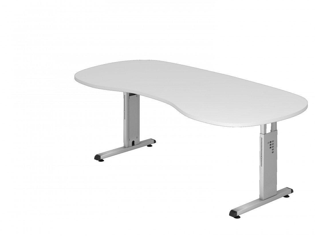Dr de oficina escritorio altura regulable nierenform 200 x 100 cm ...
