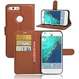 Excelsior Premium Leather Wallet Flip Cover Case For Google Pixel XL (5.5 inch) - Brown