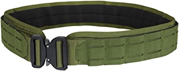 Large OD Green LCS Gun Belt HD Tactical Molle Pals Nylon Padded 2 Belt System