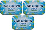 ICE CHIPS Xylitol Candy Tins (Spearmint, 3 Pack)