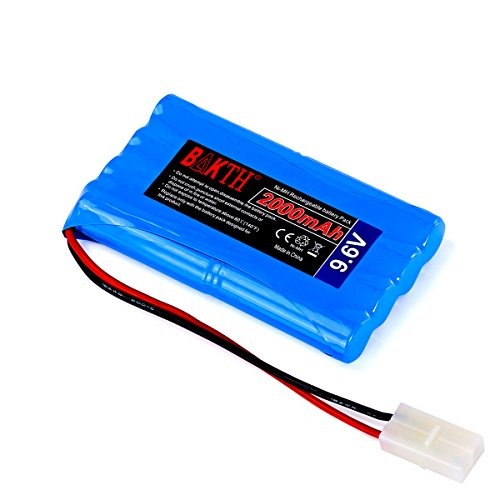BAKTH High Capacity Security 9.6V 2000mAh Rechargeable Low Self Discharge...
