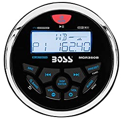 Boss Audio Mgr350b In-dash, Marine Gauge, Bluetooth, Digital Media Mp3wmausbamfm Weather-proof Marine Stereo, (No Cd Player)