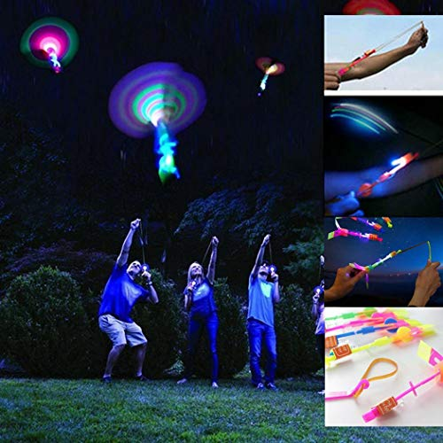 Yirind 2Pcs Amazing Led Light Arrow Rocket Helicopter Flying Toy Party Fun Gift for Children Teens,Random Color -