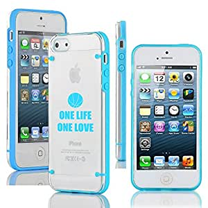 Apple iPhone 4 4s Ultra Thin Transparent Clear Hard TPU Case Cover One Life Basketball (Light Blue)