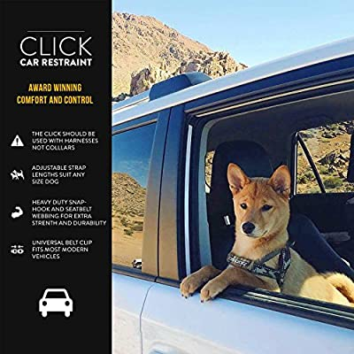 EzyDog CLICK - Best Dog Seat Belt Car Harness Attachment for Dogs - Adjustable Dog Restraints Seatbelts for Cars