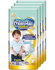 MamyPoko Extra Dry Pants, XL, 32 Count (Pack of 4)