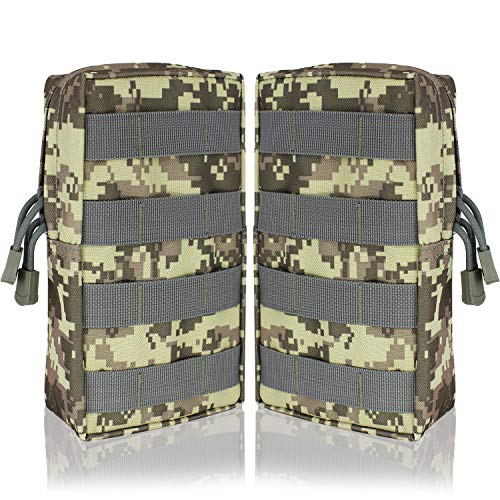 b1472499d71e YDA Molle Pouch 2 Pack Tactical EDC Pouch Organizer for Tactical Backpack  (Camo)