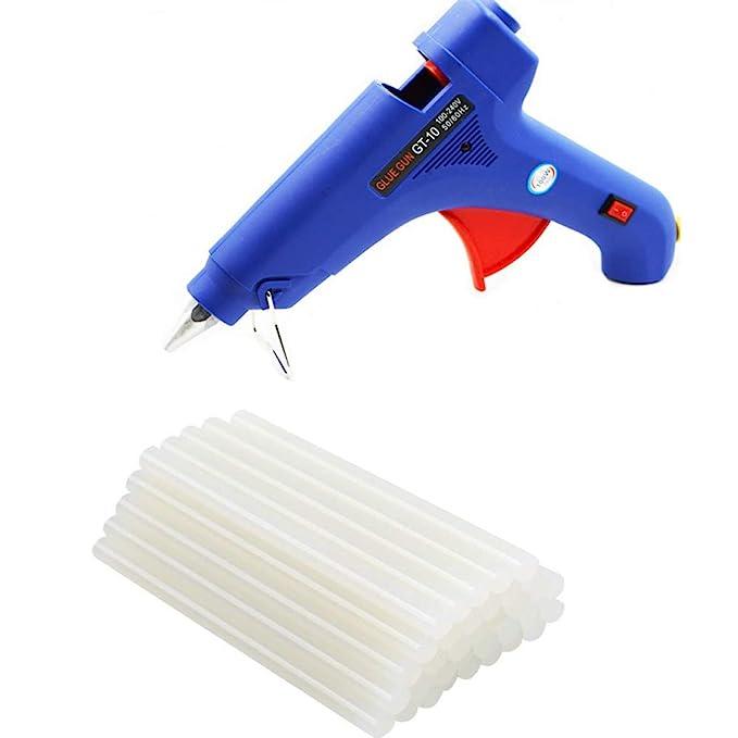 HENGMEI Heißklebepistole Klebepistole + Heißklebesticks Transparente Klebesticks für DIY Kleine Craft-Projekte 100W klebepist