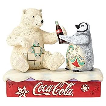Amazoncom Jim Shore Share A Coke And A Smile Stone Resin