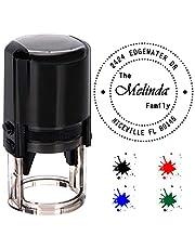 Personalizada Sello redondo Auto entintado, personalizado stamp-diameter 40 mm sellos de goma con 4 opcional de tinta mate, color rojo, azul,verde