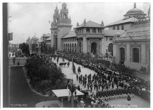 Photo: The Mall,crowd,Pan-American Exposition,water,Buffalo,NY,New York,CD - Mall Buffalo Ny