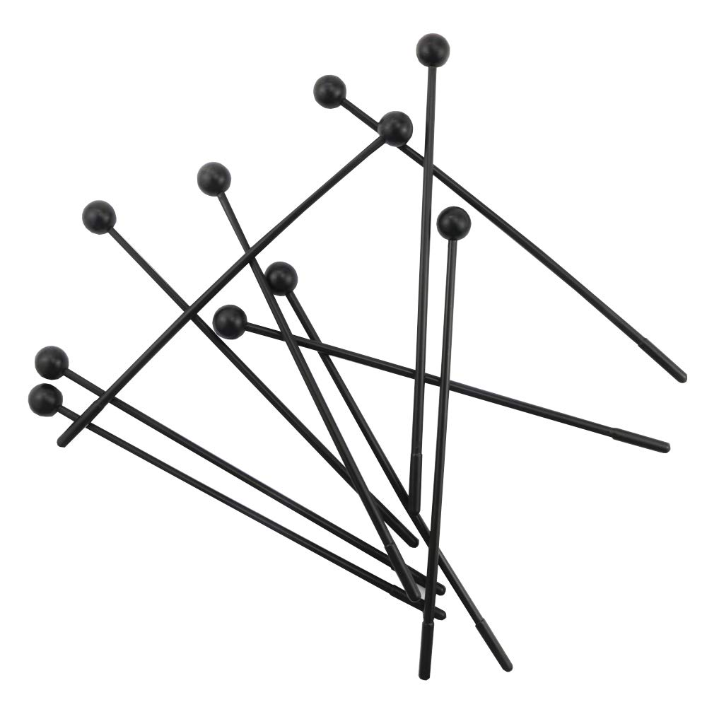 UPlama 10Pack Bell Kit Mallets,Percussion Sticks for Kids,Aluminum Piano Hammer,Black
