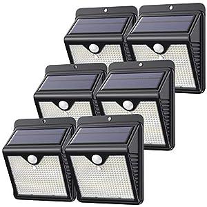 【6 Paquete】150 LED Luz Solar Exterior, Feob Súper Brillante Foco Solar Exterior con Sensor de Movimiento, 180… 51zWMF2XOFL
