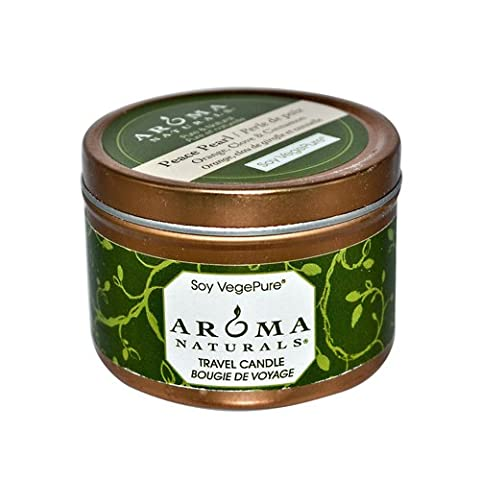 Aroma Naturals 814749 Aroma Naturals Soy VegePure Travel Candle - Peace Pearl Orange Clove and Cinnamon - 2.8 oz